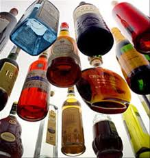 Alcohol Damage Bottles