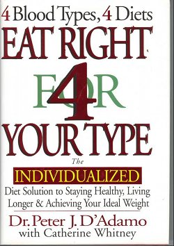 Blood Type Diet Eat Right 4 Your Type