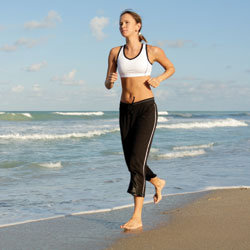 Running Barefoot Beach Run