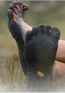 Vibram Five Fingers Crossed Feet