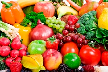Fruit and vegetable diet food mix