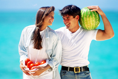 Organic Raw Food Diet Tomatoes and Watermelons
