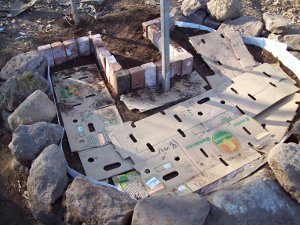 Raised Vegetable Garden Back Bricks