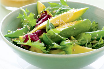 Raw Greens Avocado Salad