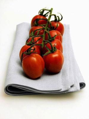 Raw Food Diet Tomatoe on Napkin